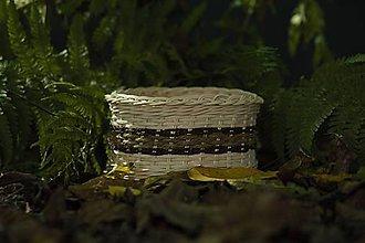 Košíky - Prírodný košík okruhlý - 11292686_