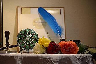 Iné šperky - Mandala Ziarivo zelena - 11293340_