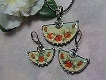 Sady šperkov - keramika ..prívesok s náušničkami.. - 11292431_