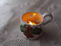 Dekorácie - keramika svietnik .. - 11292487_