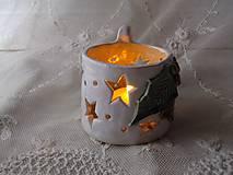 Dekorácie - keramika svietnik .. - 11292488_