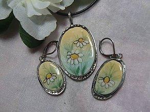 Sady šperkov - keramika ..prívesok s náušničkami.. - 11292441_