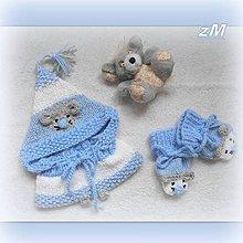Detské súpravy - Baby súpravička so šedou myškou. - 11291428_