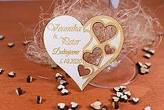 Darčeky pre svadobčanov - Drevená svadobná magnetka Ľudový motív 32 - 11292228_