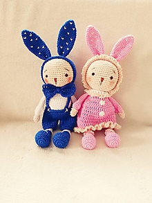 Hračky - Háčkované zajačiky - 11292931_