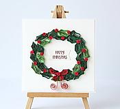 Papiernictvo - vianočná pohľadnica - 11293150_