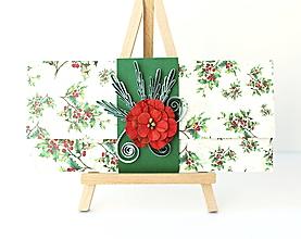 Papiernictvo - vianočná darčeková obálka - 11293230_