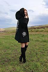 Kabáty - Ručne maľovaný kabát - 11291029_