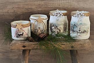 Svietidlá a sviečky - Zimné svietničky - 11297169_