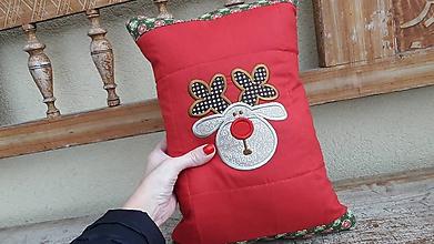 Úžitkový textil - sobovský Vianočný vankúš - 11293728_
