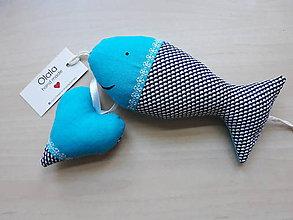 Dekorácie - Vianočné dekorácie/rybička&srdiečko - 11297349_