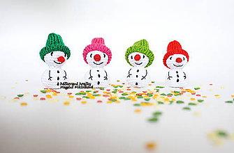 Dekorácie - Farebná snehová štvorka - 11294464_