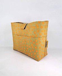 Taštičky - Organizér do kabelky pieskovej farby bodkovaný - 11293922_