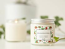 Svietidlá a sviečky - Brusnicová rosa - sójová sviečka - 11297617_