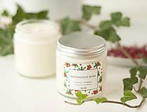 Svietidlá a sviečky - Brusnicová rosa - sójová sviečka - 11297618_