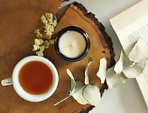Svietidlá a sviečky - Verbena, citrón & šalvia - sójová sviečka - 11298042_