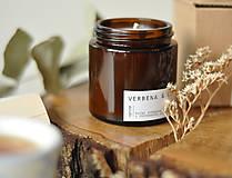 Svietidlá a sviečky - Verbena, citrón & šalvia - sójová sviečka - 11298043_
