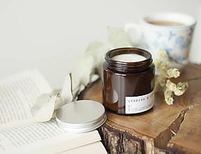 Svietidlá a sviečky - Verbena, citrón & šalvia - sójová sviečka - 11298040_