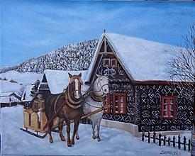 Obrazy - Zima v Čičmanoch - 11294133_
