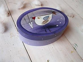 Krabičky - Maľovaná krabička stredná - 11293706_