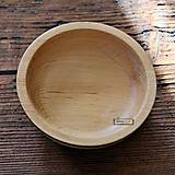 Nádoby - Drevená buková miska olivová Ø17/5 - 11296142_
