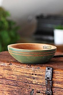 Nádoby - Drevená buková miska olivová Ø17/5 - 11296141_