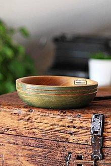 Nádoby - Drevená dubová miska olivová Ø17/5 - 11296233_