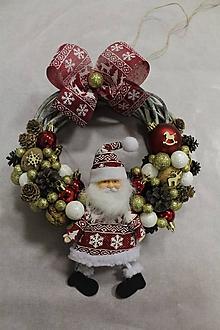 """Dekorácie - Vianočný venček na dvere """"Mikuláš"""" - 11297937_"""