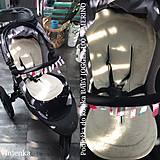 Textil - Vlnienka podložka do kočíka BABY JOGGER 100 % merino TOP SUPER WASH WOOL na mieru - 11293574_