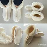 Obuv - VLNIENKA barefoot Papuče dámske / pánske /pre deti zo 100 % ovčej vlny Baranček do postele/ ku TV - 11297150_