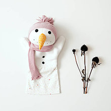 Hračky - Maňuška snehuliak - 11297754_