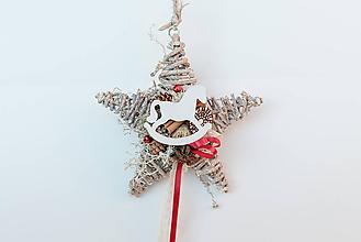 Dekorácie - Vianočná hviezda - 11298024_