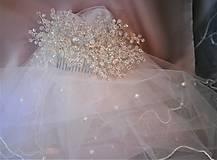 Ozdoby do vlasov - Svadobný hrebienok - 11294748_