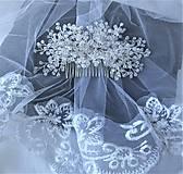 Ozdoby do vlasov - Svadobný hrebienok - 11294758_
