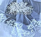 Ozdoby do vlasov - Svadobný hrebienok - 11294763_