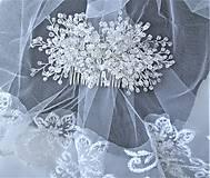 Ozdoby do vlasov - Svadobný hrebienok - 11294764_