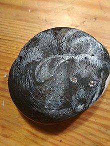 Drobnosti - Portrét psíka na kameni - 11297536_