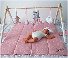 Detské doplnky - Drevená hrazdička pre bábätko - 11297297_