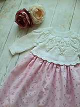 Detské oblečenie - Šaty na krst - 11296137_