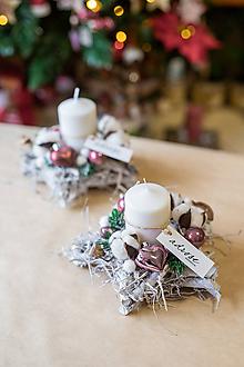 Dekorácie - Vianoce - svietnik - zlatá hviezda - 11296665_