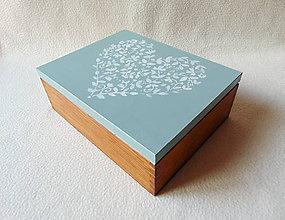 Krabičky - Drevená šperkovnica / organizér - 11294270_