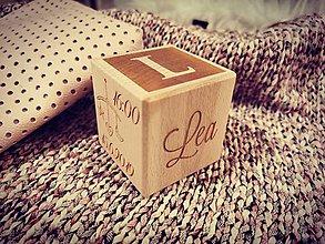 Dekorácie - Drevená kocka - 11296911_
