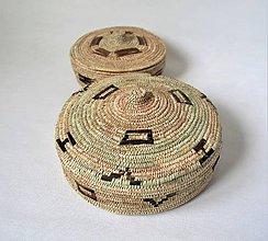 Krabičky - Prútený antický kôš s vekom - 11293947_