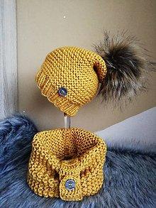 Detské čiapky - Horčicova suprava (Žltá) - 11297406_