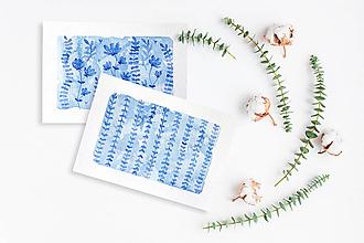 Kresby - Maľované pohľadnice - 2 kusy - 11294817_