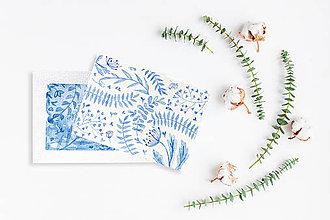 Drobnosti - Maľované pohľadnice - 2 kusy - 11294847_