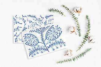 Kresby - Maľované pohľadnice - 2 kusy - 11294867_