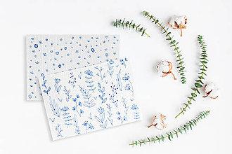 Kresby - Maľované pohľadnice - 2 kusy - 11294881_