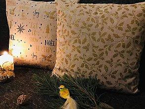 Úžitkový textil - Obliečky ZLATÉ Vianočné - 11297526_