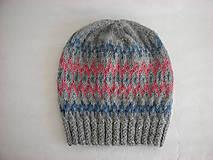 Čiapky - Alpaka s nórskym vzorom - 11296457_